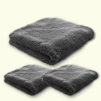 Microfibre Edgeless Plush Coral Fleece Finishing Cloth 450GSM 40cm x 40cm Triple Pack