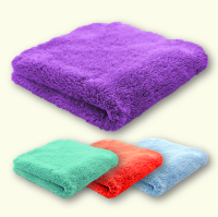Microfibre Edgeless Ultra Plush Coral Fleece Cloths 450GSM 40cm x 40cm (Pack of 4)