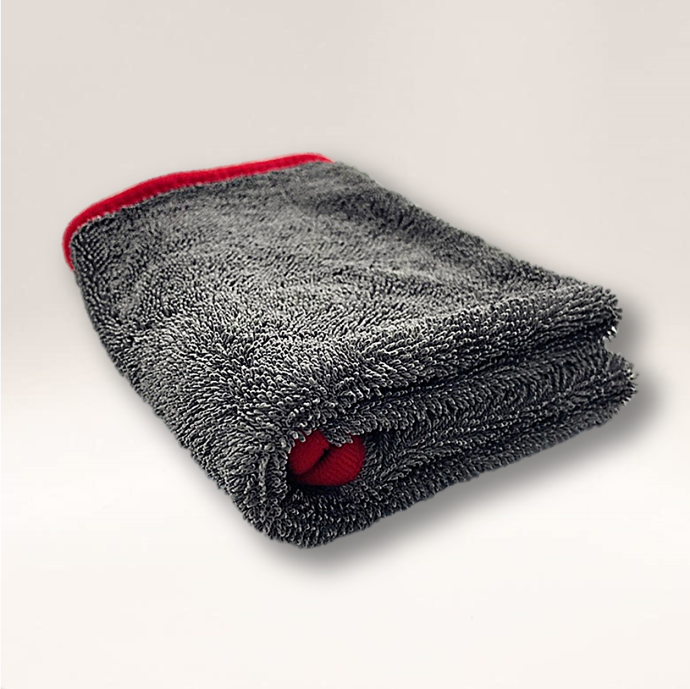 'Big Grey' Twist 550GSM Microfibre Twisted Loop Drying Towel 90cm x 60cm
