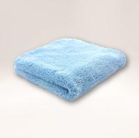 Microfibre Edgeless Plush Coral Fleece Finishing Cloth 450GSM 40cm x 40cm Blue