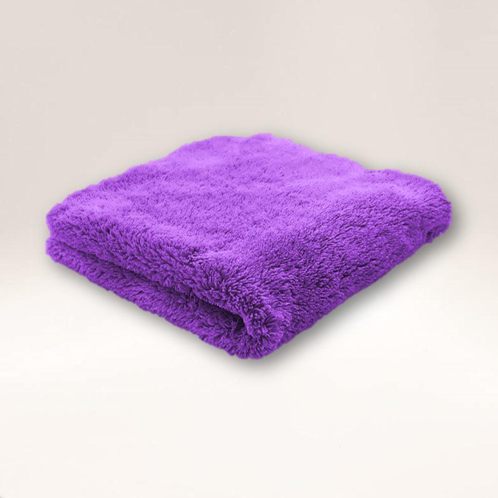 Microfibre Edgeless Plush Coral Fleece Finishing Cloth 450GSM 40cm x 40cm Purple