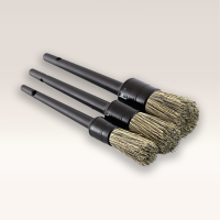 CCC Synthetic Boar Hair Car Detailing Brush Set 3 Pcs