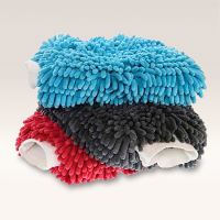 Double Sided Microfibre Noodle Wash Mitt [Various Colours]