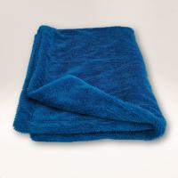 Mammoth Twist BLUE 1200GSM Edgeless Microfibre Twisted Loop Drying Towel 80cm x 50cm