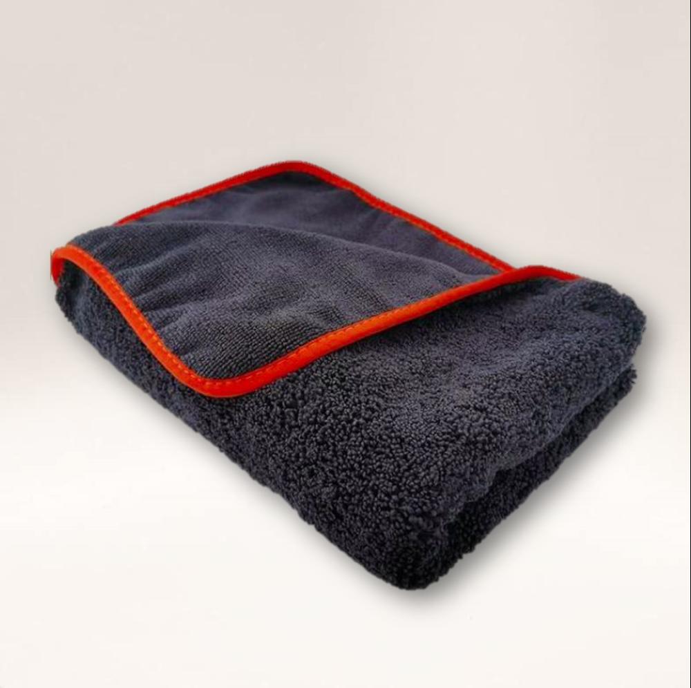 'Big Black' Plush 600GSM Microfibre Drying Towel Dual Pile 90cm x 60cm