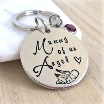 Mummy Of An Angel Keyring