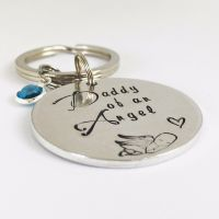 Daddy Of An Angel Keyring