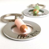 Personalised Crayon Washer Keyring