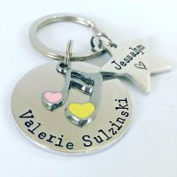 Personalised Musical Note Teachers Keyring
