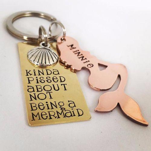 Personalised Mermaid Keyring