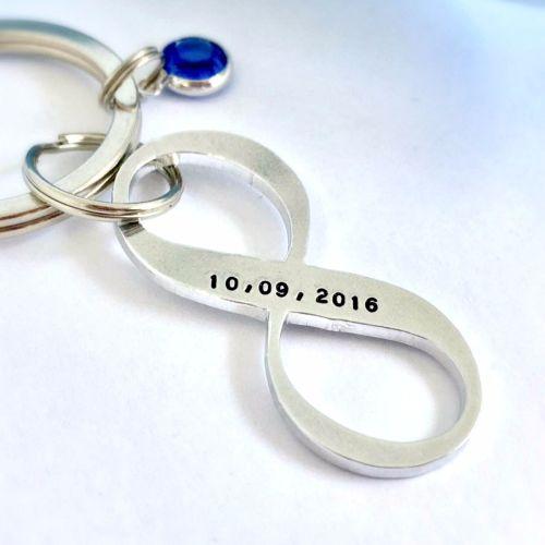 Personalised Infinity Keyring