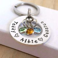 Small Family Circle Keyring