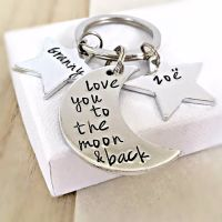 Love You To The Moon & Back Keyring