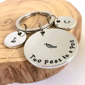 Two Peas In A Pod Keyring