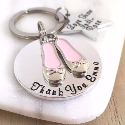 Personalised Ballet or Dance Teacher Keyring