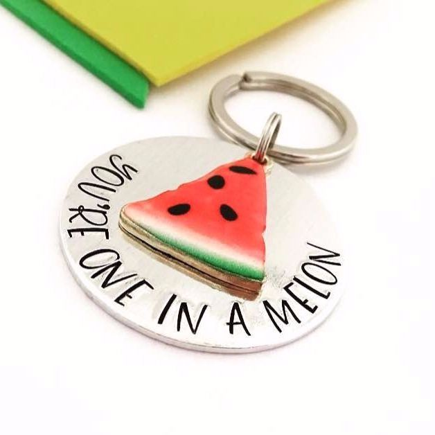 One In A Melon Keyring