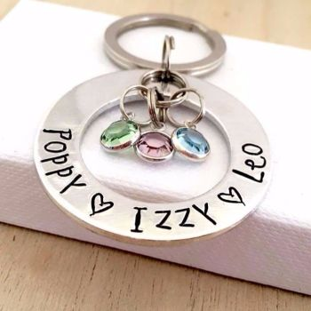 Large Family Circle Keyring