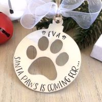 Personalised Santa Paws Decoration