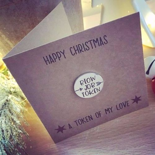Blow Job Christmas Card