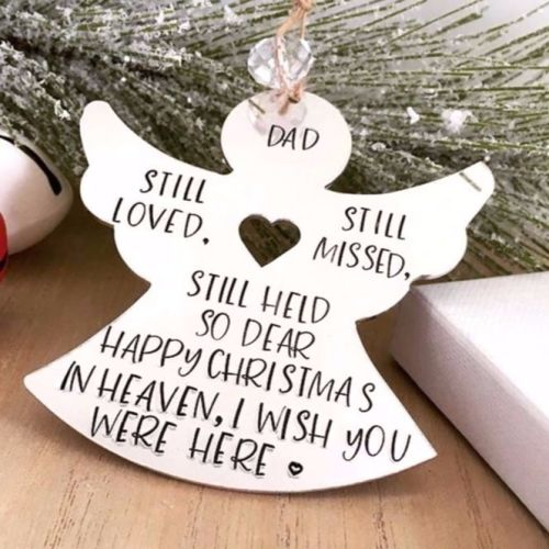 Personalised Christmas In Heaven Angel Tree Decoration