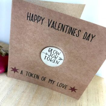Blow Job Token Valentines Day Card