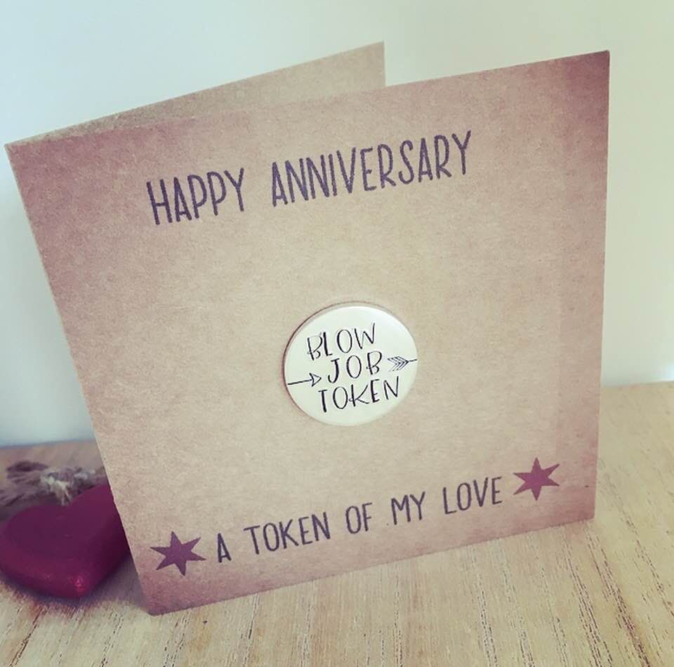 Blow Job Token Anniversary Card