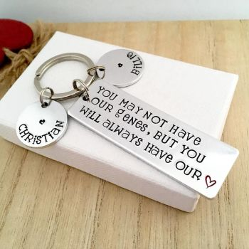 You May Not Have My Genes Keyring