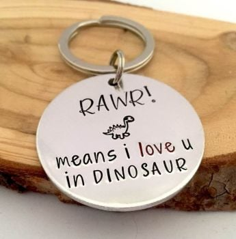 RAWR means I Love U in Dinosaur Keyring
