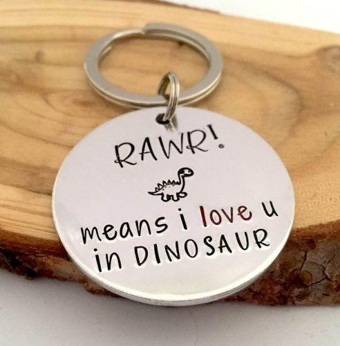 RAWR means I Love You in Dinosaur Keyring
