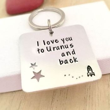 'I Love You to Uranus and Back' Keyring