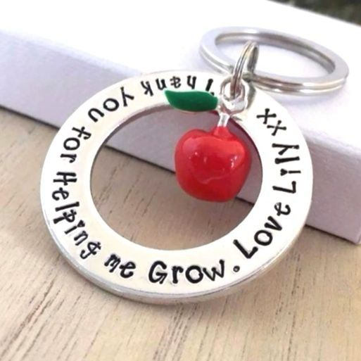 'Thank You For Helping Me Grow' Washer Keyring