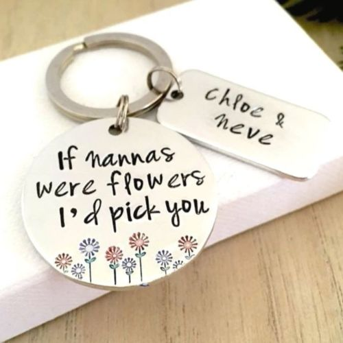 If Grannies Were Flowers Keyring