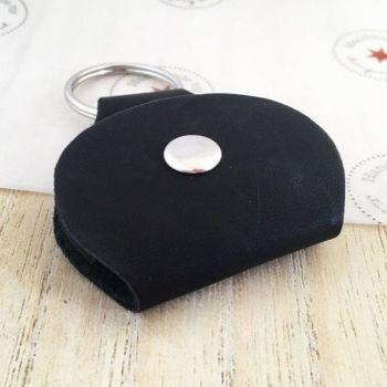 Black Faux Leather Holder Keyring