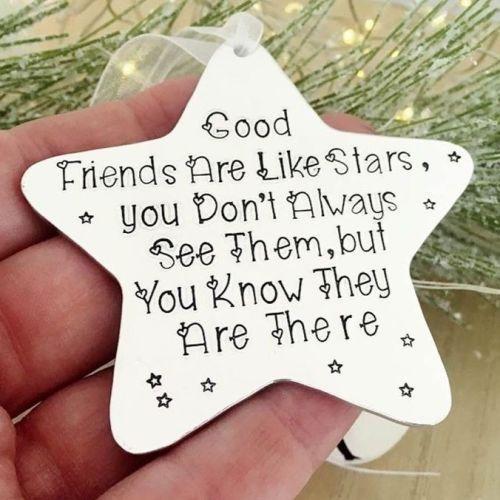 Good Friends Are Like Stars Decoration
