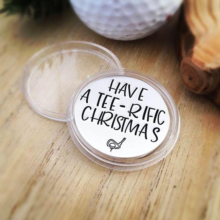 Have A Tee-rific Christmas Golf Ball Marker