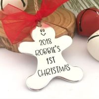 Personalised Baby's 1st Christmas Gingerbread Decoration