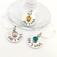 Small Personalised Wine Glass Charm