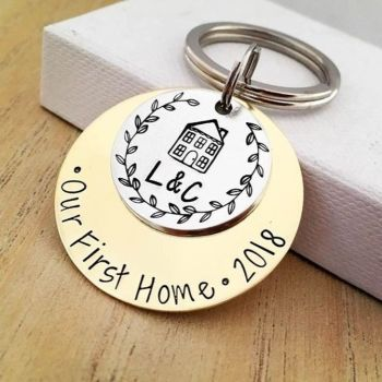 Personalised Our First Home Keyring