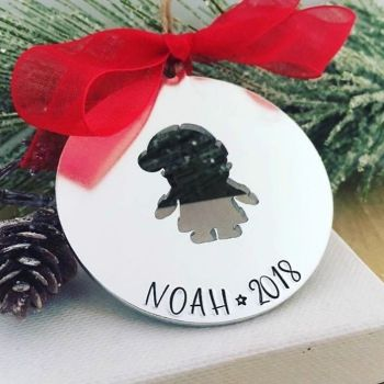 Personalised Santa Cut Out Decoration