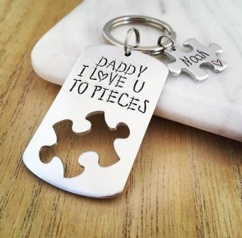 We Love You To Pieces Keyring