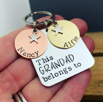 Mixed Metal Square 'This Person Belongs To' Keyring