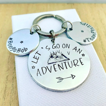 Let's Go On An Adventure Keyring