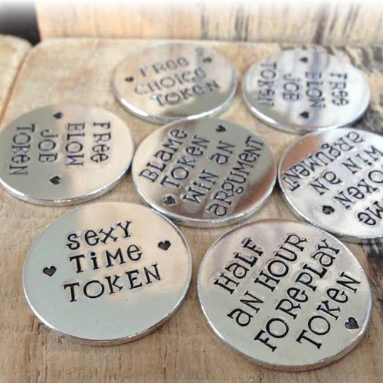 Love Tokens - Various (Karma font)