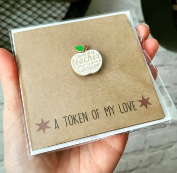 I Am A Teacher What Is Your Superpower? Pin Badge Card
