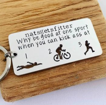 Triathlon Keyring