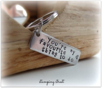 'You're my Favourite Thing to Do' Keyring