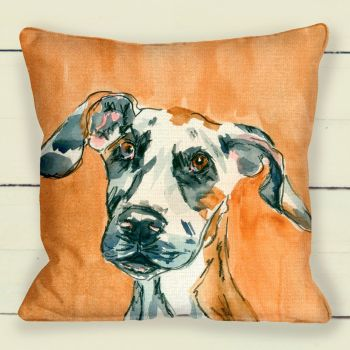 great dane portrait cushion