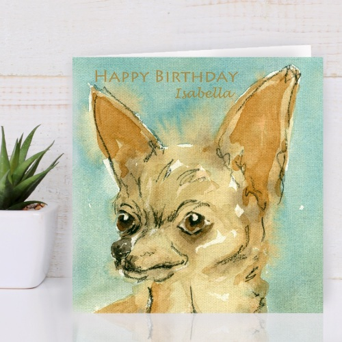 Personalised Chihuahua Greeting Card