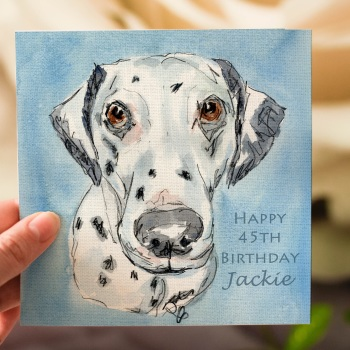 Personalised Dalmatian Dog Greeting Card