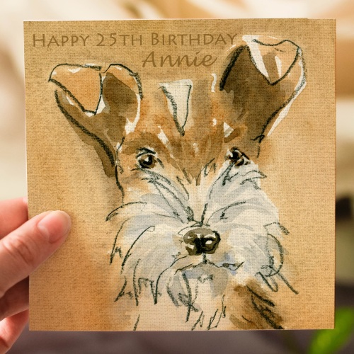 Personalised Fox Terrier Dog Greeting Card